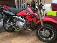 Honda crf 50 with 88cc big bore kit and rear brake conversion