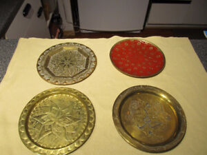 Assorted brass wall plates.