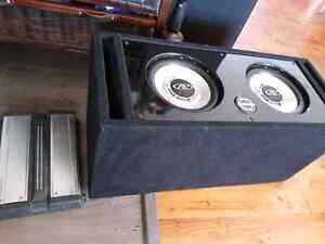 Subwoofers and kenwood amp
