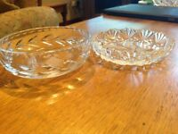 Beautiful Edinburgh crystal jewellery/ trinket dishes X 2