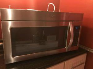 Whirlpool Over Range Microwave $150