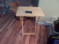 Nice wooden computer table or use it for coffee, only $5 moving