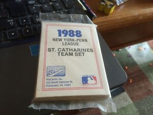 mint and sealed St Catharines Blue Jays 1988 card set