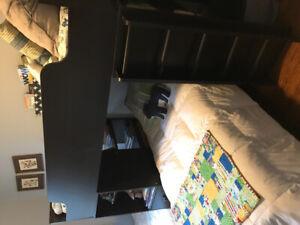South Shore loft twin bunk bed (espresso finish)
