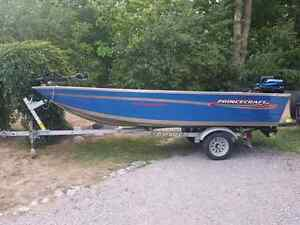 Princecraft Resorter 15' with Mercury 30hp and Trailer