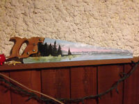 Hand Painted Carpenter Saws