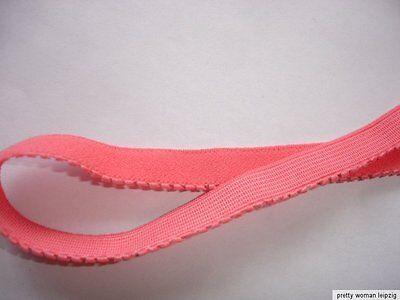 10m Gummiband 0,24€/m lachs Trägerband, Mäusezähnchen 10mm breit  EE9