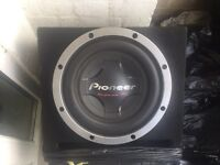 """Pioneer champion series Pro subwoofer 12"""" and Orion car amplifier"""