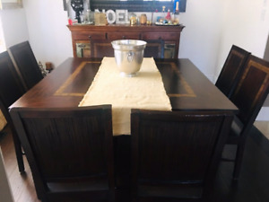 DINING ROOM TABLE & 8 CHAIRS $550