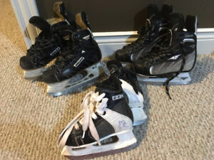Kids skates Size 12, 2 and 3