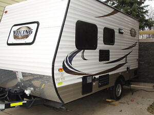 2015 FOREST RIVER VIKING 16B ULTRA LIGHT TRAVEL TRAILER