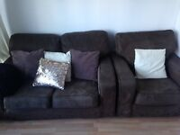 Two Sofas and Cushions