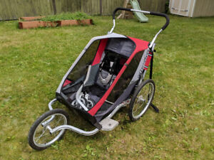 Double Chariot with stroller, running, and bike attachments