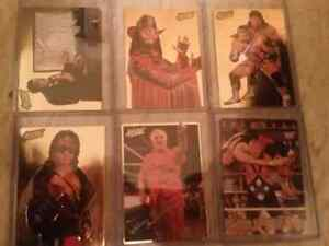 6 Gold WWF cards