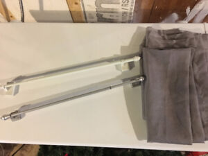 Magnetic Curtain Rod + Sheers