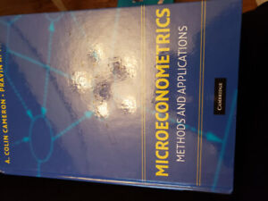SELL Microeconometrics Methods and Applications by Cameron