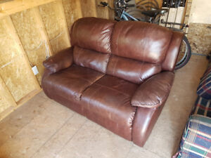 Leather Recliner Loveseat - Good Condition