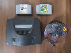 N64 System w/ Super Mario 64 and Ocarina of Time
