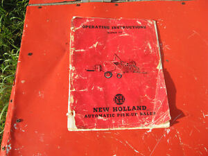Owners manual for New Holland 77 hay baler