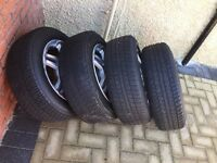 """15"""" momo alloys with 195 65 15 nearly new tyres"""