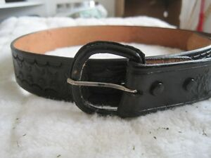 Brand New Hand Tooled and Dyed Genuine Leather Belt - Size 42