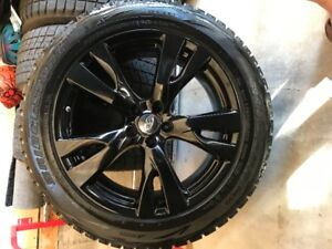 Set of Four Original Infiniti Alloy Rims with Winter Tires