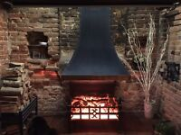Electric Fireplace, Open fire grate and Canopy