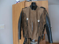 Vintage genuine leather  motorcycle Jacket