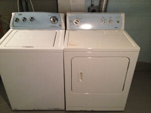 Whirlpool top loading Washer and Electric Dryer