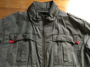 NY Yankees Green BLEND Military Style Jacket Coat XL Jersey