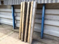 10 Reclaimed timber post rails 2.4 metre lengths 4x3 inch