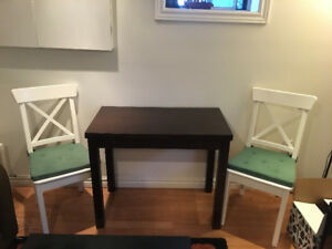 IKEA Bjursta Extendable Table - Seating for 2 or 4