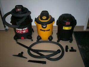 Plusieurs aspirateurs Shop-Vac avec sac et filtre neuf + access.