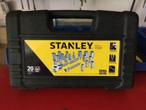 NEW/NEVER USED Stanley 20 pc 1/4 Dr Socket Set (SAE & MM)