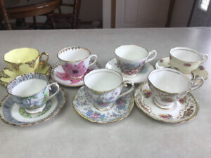 Old cups and saucers