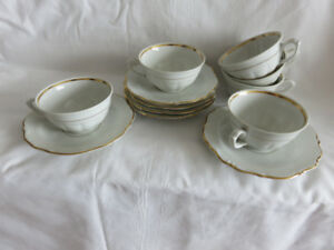 C+S, SET OF 6 FOR TEA OR COFFEE