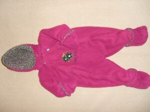 Baby Boots Burgundy Fleece Snowsuit