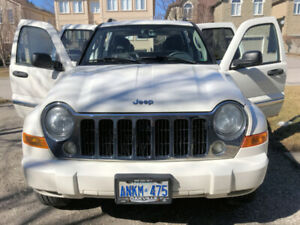 2007 Jeep Liberty Limited 4WD White