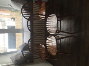 Fantastic Farmhouse Dining Table and Chairs- solid wood