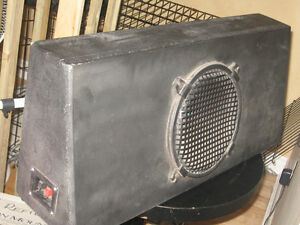 """Subwoofer Box with 10"""" Mobile Authority Series II installed"""