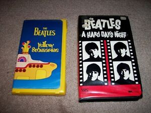 The Beatles Yellow Submarine and A Hard Day's Night on VHS