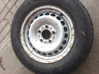 BMW E36 3 Series Spare Tire with lots of thread on the tire