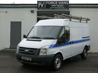 FORD TRANSIT T350 110 FWD MWB HIGH TOP RACKED PANEL WORK LOGISTICS DELIVERY VAN
