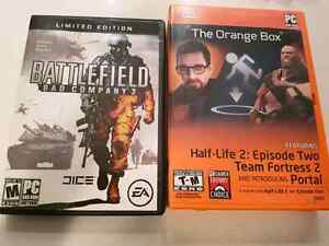 'Half Life 2 +Team Fortress 2' & 'Battlefield' PC games