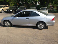 2001 Honda Civic LX Coupe (2 door). Kitchener / Waterloo Kitchener Area Preview