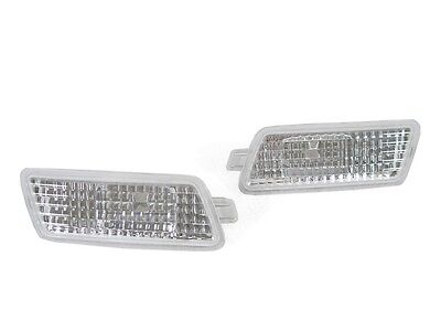 (DEPO Euro Clear Bumper Side Marker Lights Brand New For 2005-2011 Audi A6 S6 C6)