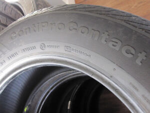 225 60 17 ALL SEASON SET  OF  TIRES CONTINENTAL CONTIPRO CONTACT