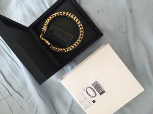 Brand New In Box Vitaly Gold Chain Bracelet