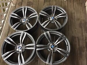 "Set of Genuine Factory M5 20"" forged rims style M 343 nice cond"