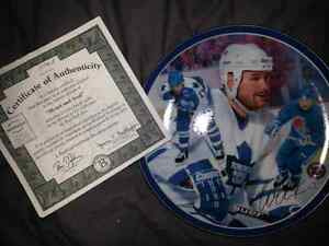 Wendell Clark autographed collectable plate with authenticity